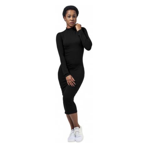 Urban Classics Ladies Turtleneck L/S Dress black
