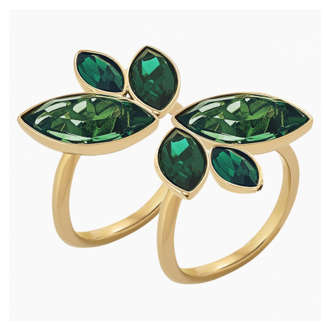 Beautiful Earth by Susan Rockefeller Ring Set, Green, Gold-tone plated Swarovski