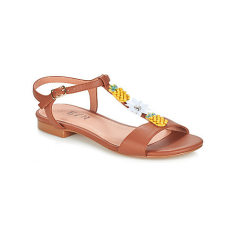 Elue par nous ESPERE women's Sandals in Brown