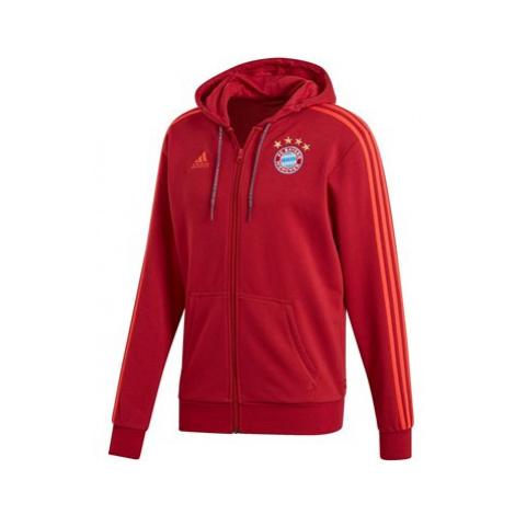 FC Bayern Full Zip Hoodie - Red Adidas