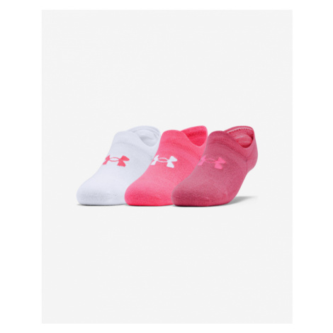 Under Armour Ultra Lo Set of 3 pairs of socks Pink White