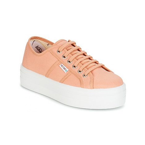 Victoria BLUCHER LONA PLATAFORMA women's Shoes (Trainers) in Pink