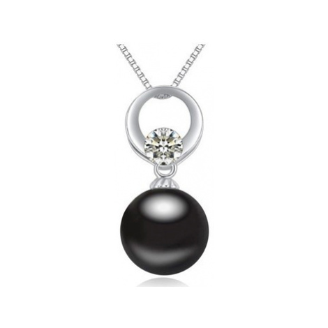 Blue Pearls CRY A287 G women's Pendant in Black
