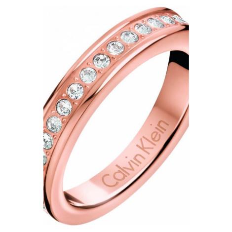 Ladies Calvin Klein Rose Gold Plated Size P Hook Ring KJ06PR140108