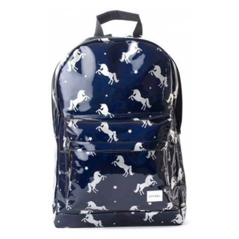 Spiral Black Unicorns Backpack Bag