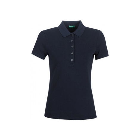 Benetton MONNIKHA women's Polo shirt in Blue United Colors of Benetton