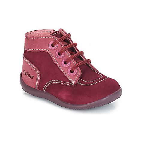 Kickers BONZIP girls's Children's Mid Boots in Bordeaux