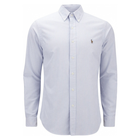 Polo Ralph Lauren Men's Slim Fit Stripe Oxford Shirt - Blue/White - XXL - Blue