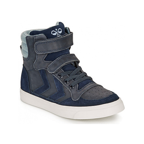 Hummel STADIL WINTER HIGH JR girls's Children's Shoes (High-top Trainers) in Blue