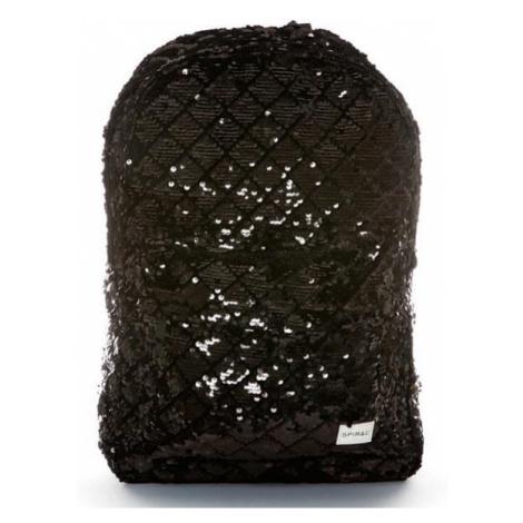 Spiral Diamond Sequins Backpack bag Black