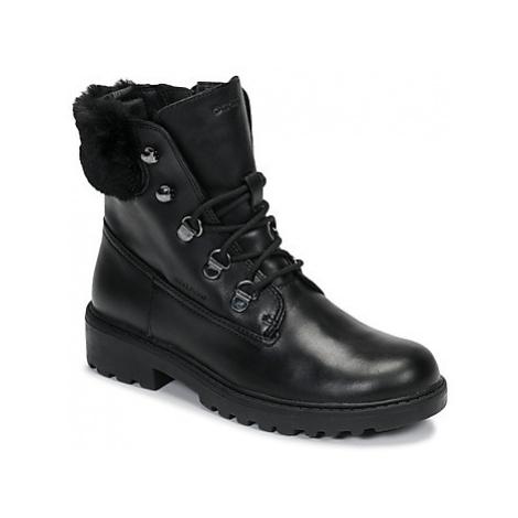 Geox J CASEY GIRL WPF girls's Children's Mid Boots in Black