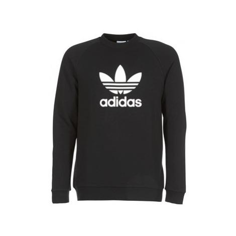 Adidas TREFOIL CREW men's Sweatshirt in Black