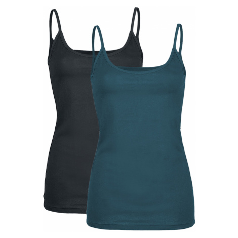 Black Premium by EMP - Just A Normal Day - Girls Top - black/petrol