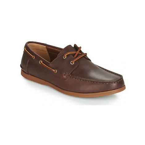 Clarks MORVEN SAIL men's Boat Shoes in Brown