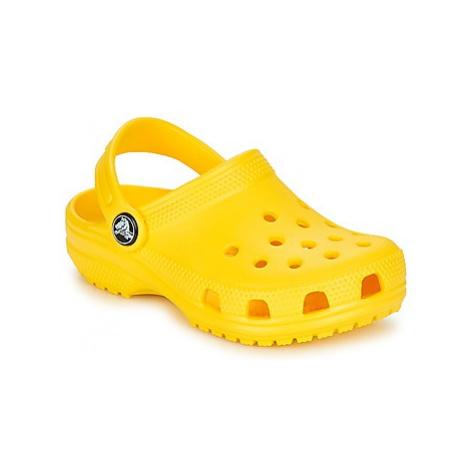 Crocs CLASSIC CLOG K girls's Children's Clogs (Shoes) in Yellow