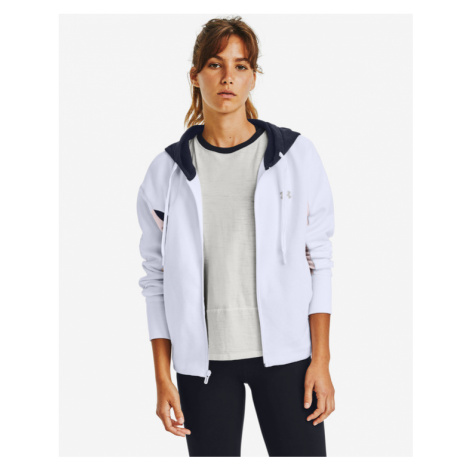 Under Armour Rival Fleece Embroidered Full Zip Sweatshirt White