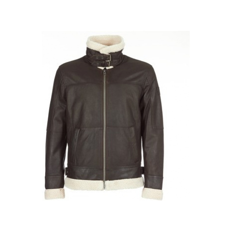 Oakwood WOODY men's Leather jacket in Brown