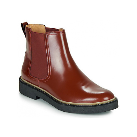 Kickers OXFORDCHIC women's Mid Boots in Red