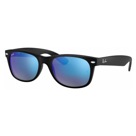 Ray Ban Unisex RB2132 NEW WAYFARER FLASH - Frame color: Black, Lens color: Blue Flash, Size 55-1