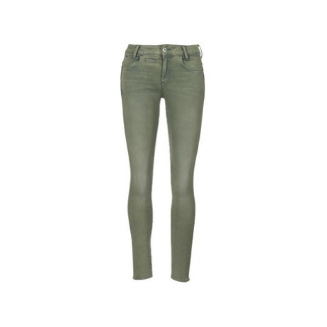 G-Star Raw D-STAQ 5-PKT MID SKINNY COJ WMN women's Trousers in Green
