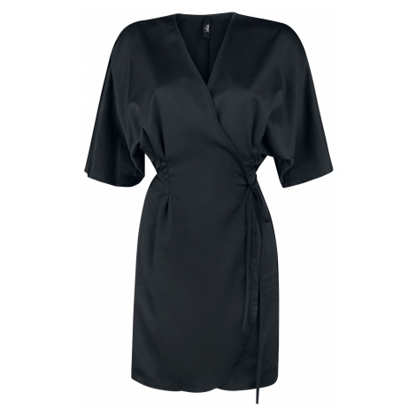 Black Premium by EMP - Black Premium Black Wrap Dress - Dress - black