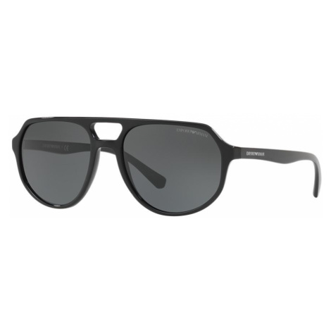 Emporio Armani Man EA4111 - Frame color: Black, Lens color: Grey-Black, Size 57-18/145