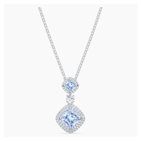 Angelic Necklace, Blue, Rhodium plated Swarovski