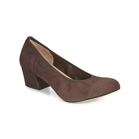 Perlato 10366-CAM-NUT women's Court Shoes in Brown
