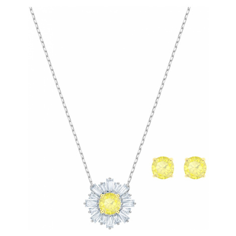 Sunshine Set, White, Mixed metal finish Swarovski