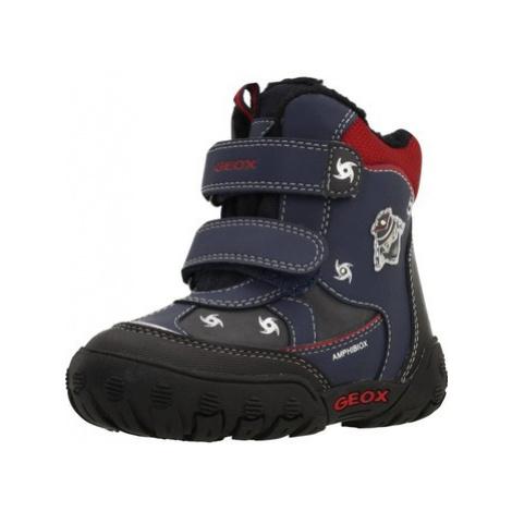 Blue boys' winter shoes