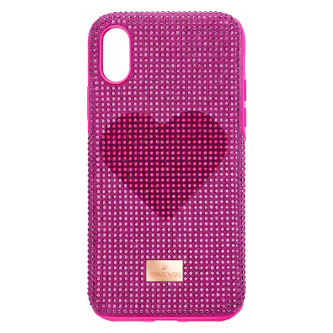 Crystalgram Heart Smartphone Case with Bumper, iPhone® XS Max, Pink Swarovski
