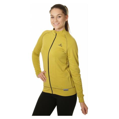 sweatshirt Lasting Moly Zip - 6469/Mustard - women´s