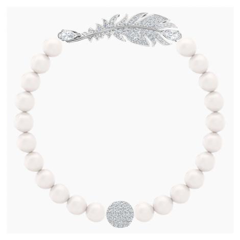 Nice Pearl Bracelet, White, Rhodium plated Swarovski