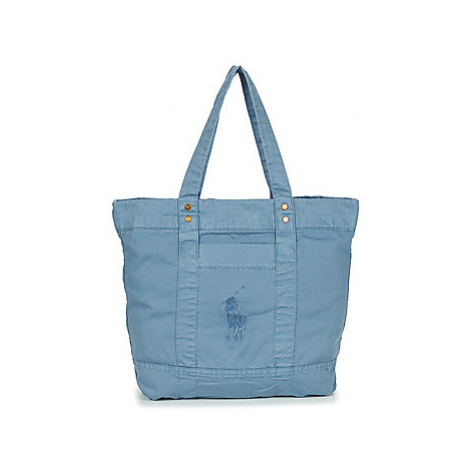 Polo Ralph Lauren PP TOTE SUNFADED CHINO women's Shopper bag in Blue