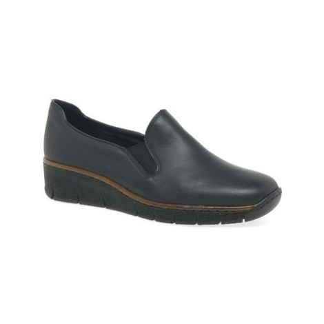 Rieker Melgar Womens Casual Shoes women's Loafers / Casual Shoes in Black