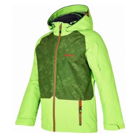 Ziener AFELIX ORANGE green - Kids' skiing jacket