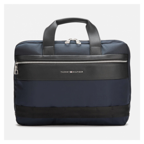 Tommy Hilfiger Men's Nylon Mix Slim Computer Bag - Tommy Navy