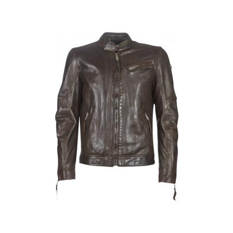 Redskins TRUST VICTORY men's Leather jacket in Brown