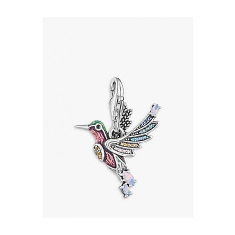 THOMAS SABO Charm Club Hummingbird Charm, Silver/Multi