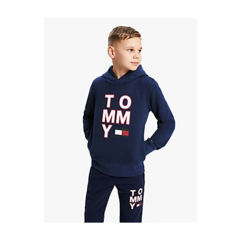 Tommy Hilfiger Boys' Graphic Hoodie, Blue
