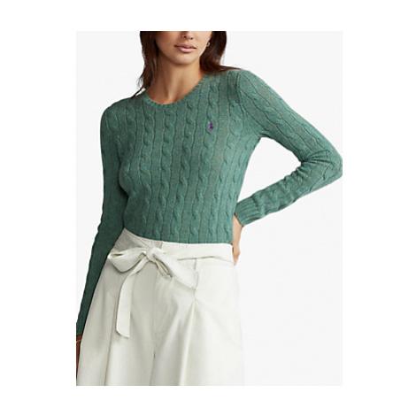 Polo Ralph Lauren Julianna Classic Long Sleeve Sweater, Green
