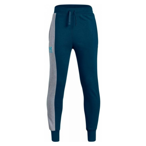 Under Armour RIVAL BLOCKED JOGGER blue - Children's tracksuit bottoms