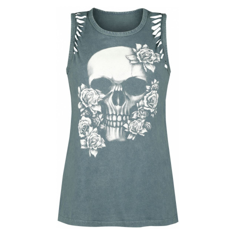 Black Premium by EMP Green top with cut-outs and print Top green