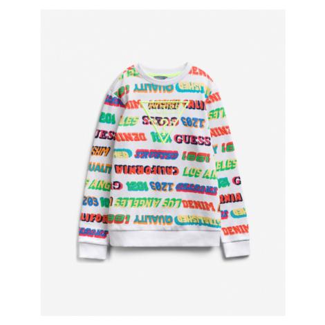 Guess Kids Sweatshirt White Colorful