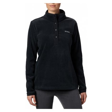Columbia Womens Benton Springs Half Snap Fleece-Black-XL