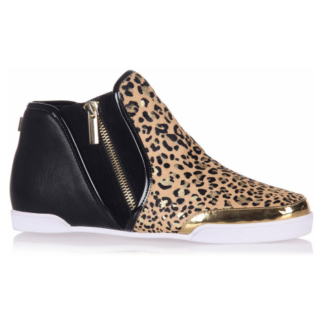 shoes Butterfly Twists Alexis - Gold Leopard Pony