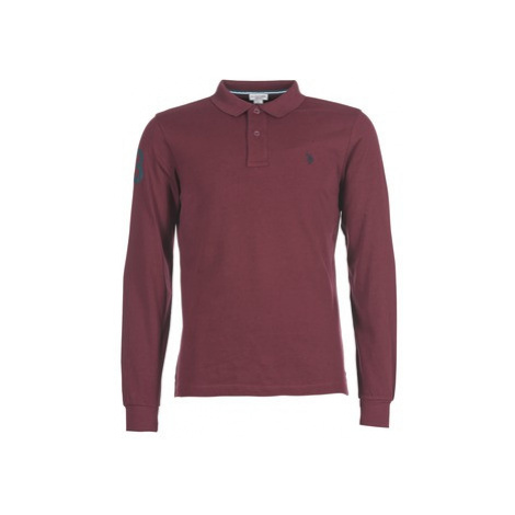 U.S Polo Assn. FLUO men's Polo shirt in Bordeaux U.S. Polo Assn
