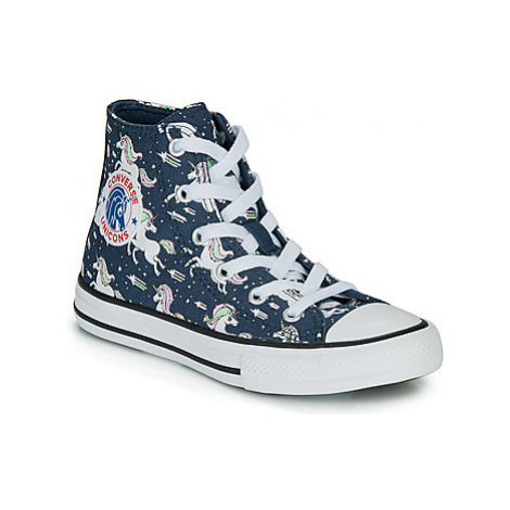 Converse CHUCK TAYLOR ALL STAR UNICONS HI girls's Children's Shoes (High-top Trainers) in Blue
