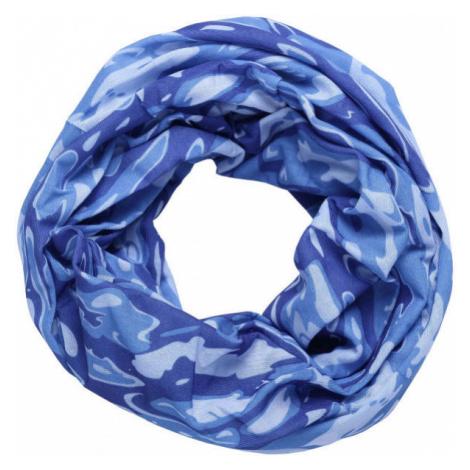 Finmark MULTIFUNCTIONAL SCARF blue - Multifunctional scarf