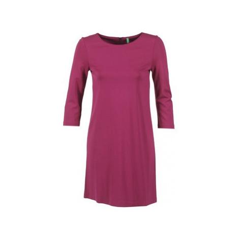 Benetton SAVONI women's Dress in Purple United Colors of Benetton